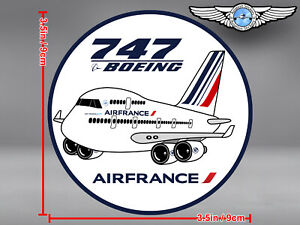 AIR FRANCE PUDGY BOEING B747 ROUND DECAL / STICKER