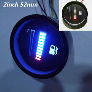 2inch 52mm Universal 10LED Fuel Level Meter Digital Gauge Car Motorcycle