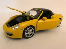 Welly 1:24 Porsche Boxster S Yellow Convertible