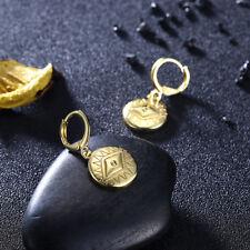 TORY Charm Evil-Eye Drop Earrings in 18K Gold Plated Coin Drop Earring