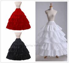 Lady/Women 4 Hoop Petticoat Long Crinoline Bridal Underskirt Fancy Skirt Slips