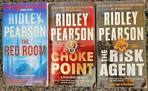 RIDLEY PEARSON RISK AGENT SERIES 3 BOOK LOT PB THRILLER FREE SHIPPING RED ROOM