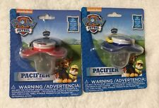 Paw Patrol Baby Pacifiers Boy Pups Chase & Marshall NEW- BPA FREE