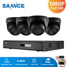 SANNCE 8CH 5IN1 DVR 1080P IR Cut Outdoor CCTV Home Security Camera System Remote