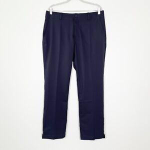 Nike Flex Men's Size 34 x 30 Gray Blue Gridiron Flex Flat Front Golf Pants NWT