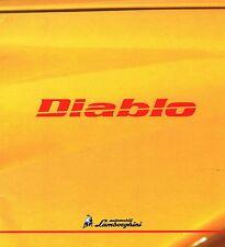 LAMBORGHINI DIABLO VT/SV/Roadster prospetto, 1998, 20 pagine