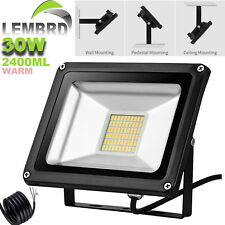 30W LED Floodlight Warm White Outdoor Garden Security Floodlights 12V IP65