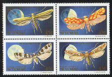 MICRONESIA, Scott # 127-130 (130A), MINT HINGED BLOCK OF 4 MOTHS, INSECTS