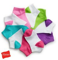 12 Pairs Hanes Boys Girls Low Cut Socks Children Kids Invisible Assorted lot