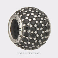 Authentic Pandora Sterling Silver Black Pave Lights CZ Bead 791051NCK