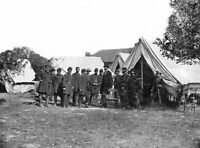 Abraham Lincoln General George McClellan at Tent Civil War 8 x 10 Photo Picture