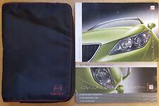 GENUINE SEAT IBIZA HANDBOOK OWNERS MANUAL WALLET 2008-2012 PACK B-634