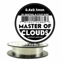 50 ft - 0.4 X 0.1 mm Flat Ribbon Kanthal A-1 Resistance Wire Spool A1 50' Roll