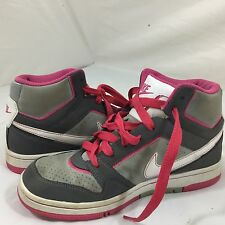 Nike Air prestige III Basketball High Tops Pink Gray White laces size 6.5 Swoosh