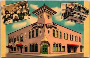 Vintage TAMPA, Florida Postcard LAS NOVEDADES SPANISH RESTAURANT Linen Unused