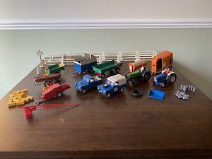 BRITAINS Job Lot - Land Rovers, Tractors, Trailers, Fences, Hay Bales, etc.