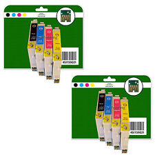 8 Ink Cartridges for Epson R240 R245 RX420 RX425 RX520 non-OEM E551-4