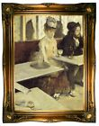 Degas In a Cafe 1873 Wood Framed Canvas Print Repro 19x26
