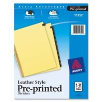 Avery Numeric Gold Line Black Leather Tab Divider - Printed1 - 31 - 31