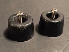 TEAC A-4010S Reel Tape Deck PAIR (2) Of Feet For Case with Screws Original Part