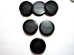 4 x Canon Camera Body Caps & 2x rear lens caps for Canon Cameras/EF/EFS lenses