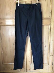 Margaret Howell Black Cotton Smart Trousers 10