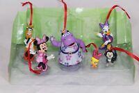 Disney Authentic Minnie Mouse Happy Helpers Christmas Ornaments 6pc Figure Set