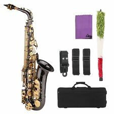 More details for alto saxophone brass nickel-plated eb e flat sax with case kit for beginner z1u5