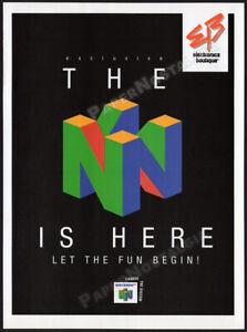 NINTENDO 64 / E.B.__Original 1996 Print AD / game system promo ad__N64 logo