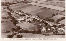 City Birmingham Coleshill Hall Marston Green 1938  Solihull Air Aerial View RP
