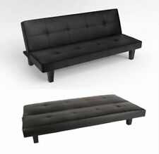 Riana KL-SCC-001 Sienna 3 Seater Small Double Sofa Bed - Black