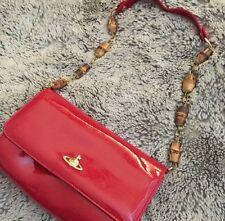 Vivienne Westwood Bolso de Mano con Correa detallado de madera, puede ser utilizado como una bolsa de embrague!!!