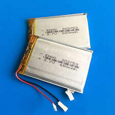 2 pcs 650mAh 3.7V 303759 Li Po Rechargeable Battery For MP3 MP4 MP5 PSP Speaker