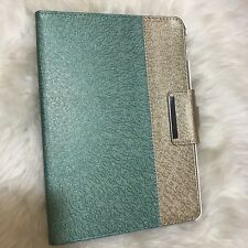 iPad Pro 9.7 Cover Case Folio Stand 360 Swivel PU Leather Jade And Gold