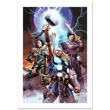 STAN LEE signed THOR Marvel ORIGINAL COMIC Artworks CANVAS COA LOKI AVENGERS