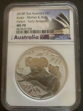 2018-P $2 Australia Koala 2oz.Next Generation Piefort  NGC MS70 Early Release