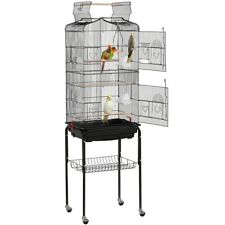 64'' Open Top Small Parrot Cockatiel Conure Parakeet Bird Cage with Stand