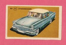 Studebaker Vintage 1950s Car Collector Card from Sweden B
