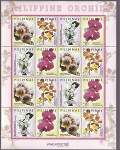 Philippines 2016 Orchids Flowers Waling-Waling in sheetlet/16 mint NH