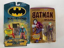 Batman Joker Lot of 2 New Action Figures Plasma Glow Joker Squirting Orchid