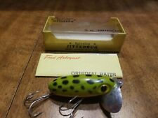 New listing Vintage Fred Arbogast Jitterbug Fishing Lure 1/4 Oz Old Spinner Surface Bait Box