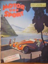 MOTOR UND SPORT 37 - 11.9. 1938 Renn-Krafträder Dornier Steyr 55 VW Monza Auto
