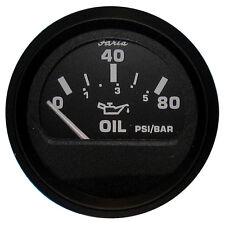 "FARIA EURO BLACK 2"" OIL PRESSURE GAUGE 80 PSI GP95"