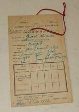 Ancienne FICHE de CLASSEMENT des CHEVAUX JUMENTS : MARGOT née en 1924 - ST-AUBIN