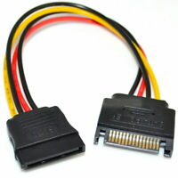 SATA Power 8 inch 8in 15 PIN Serial ATA Power Extension Internal Cable MF