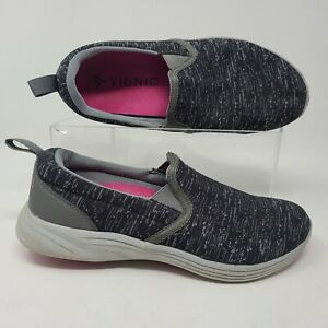 Vionic Kea Slip On Size 7 Black Womens Comfort Arch Support Shoes Sneakers