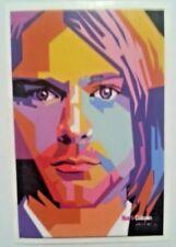 "Kurt Cobain~Watercolor~Decal Sticker Adhesive Vinyl~2 5/16"" x 2""~Ships FREE"