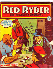 """Red Ryder No 12 1950's  Australian-""""Poker Game Cover!  """""""