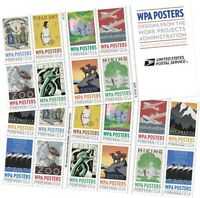 WPA Posters Book of 20 Forever Stamps Scott 5189b
