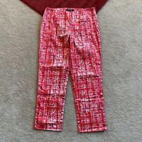 Lafayette 148 Petites 2 Multicolor Bleecker Crop Capri Pants Actual W 26 x I 24